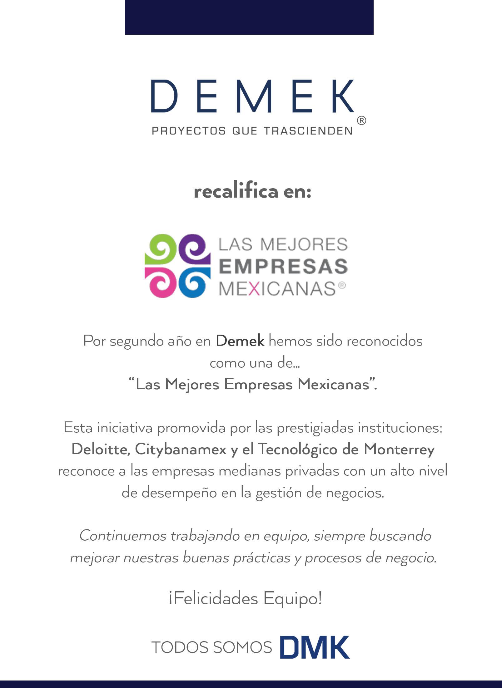 DEMEK requalify in MEM 2018
